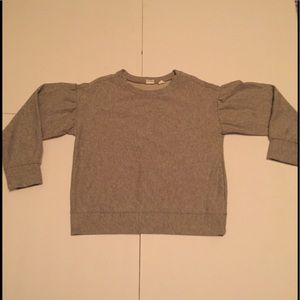 Gap Girl's Balloon Sleeve Shiny Sweatshirt Size 8